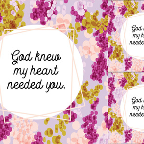1 blanket + 2 loveys: god knew my heart needed you // lilac champagne fizz on 88-9