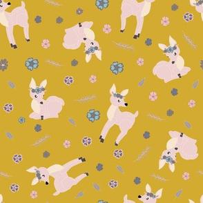 baby fawn on Ceylon yelloy