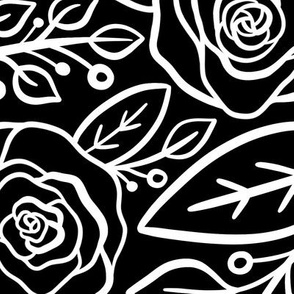Roses in black & white