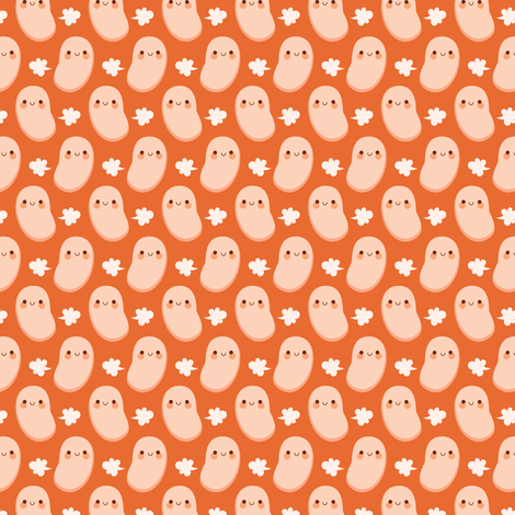 Smallest farting baked beans fabric by petitspixels on Spoonflower - custom fabric