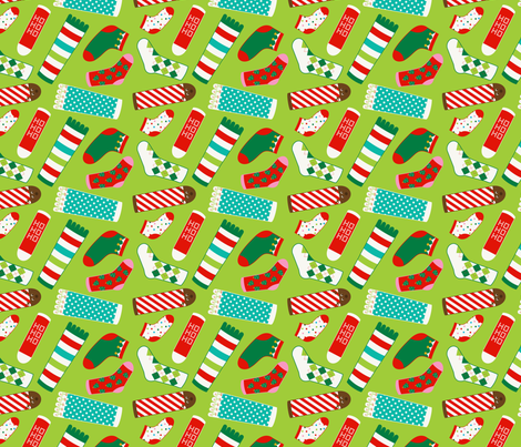Holiday Socks Galore fabric by anitriam-with_envy_studios on Spoonflower - custom fabric