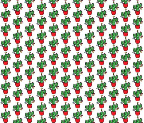 CHRISTMAS CACTUS fabric by wxstudio on Spoonflower - custom fabric