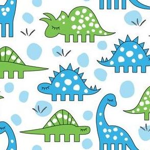 dinos-4-types-blue-green-on-white