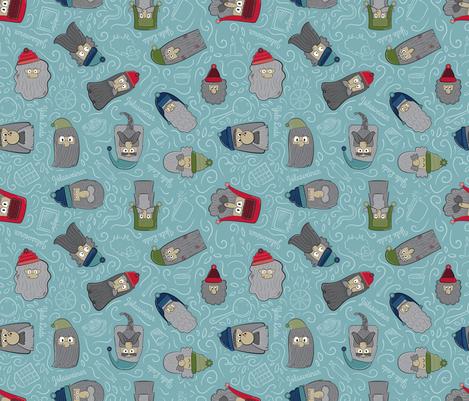 Icelandic Yule Lads fabric by sewcontrari on Spoonflower - custom fabric