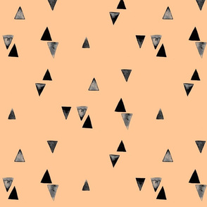 Watercolour Triangles on Peach