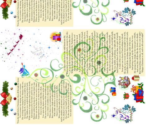 Twas The Night Before Christmas fabric by female_farmer on Spoonflower - custom fabric