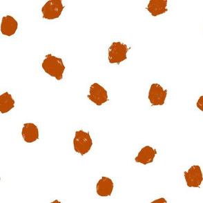Terracotta dots ditsy