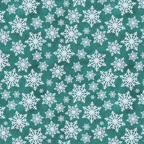 Snow Day Emerald Green