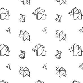 Origami animal's pattern