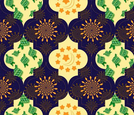 Islamic Holiday-Eid Mubarak fabric by aurora_quilling on Spoonflower - custom fabric