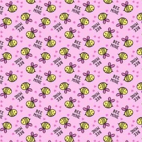 (micro scale) Bee Mine - Pink - valentines day C18BS