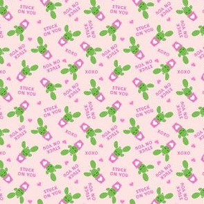 (micro scale) Stuck on you - Cactus Valentines - light pink C18BS