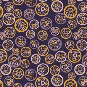 Natural Circle Design Yellow Purple