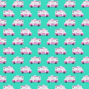 (micro scale) ice cream trucks (pink and teal) C18BS