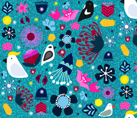 FQ - Happy Holidays Down Under fabric by bound_textiles on Spoonflower - custom fabric