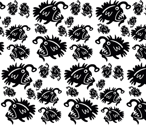 Angler Fish  fabric by surly on Spoonflower - custom fabric