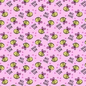 "(1/2"" scale) Bee Mine - Pink - valentines day C18BS"