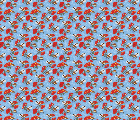 Christmas Fantails fabric by rebeccatiana on Spoonflower - custom fabric