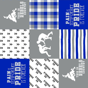 Wrestling//Rebels - Wholecloth Cheater Quilt - Rotated