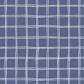 tartan pattern on blue