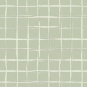 tartan pattern on green