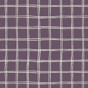tartan pattern on plum