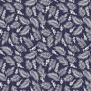Mistletoe on Blue Background