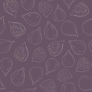 fig lines on plum