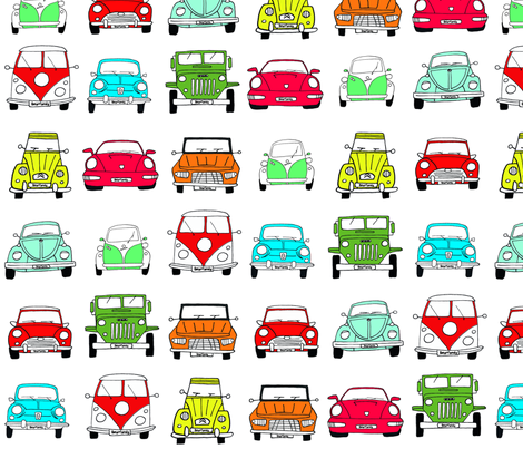 beta cars  fabric by mitos_oohmywall on Spoonflower - custom fabric
