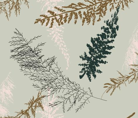 big fir branches fabric by juliaschumacher on Spoonflower - custom fabric
