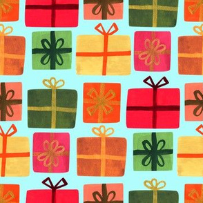 Wrapped Gifts-Lt Teal