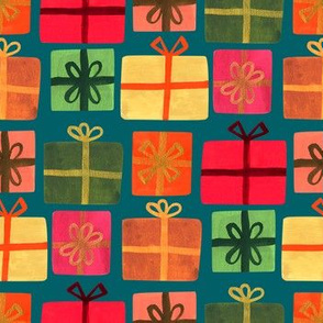Wrapped Gifts - Teal