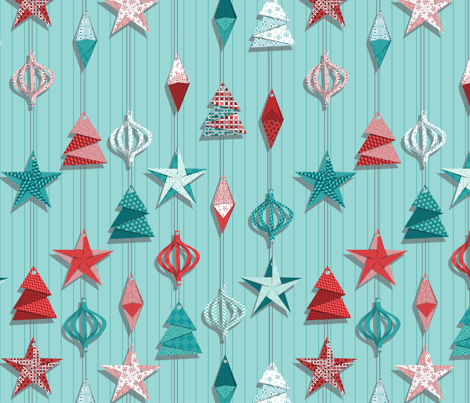 We make paper ornaments fabric by groundnut_apiary on Spoonflower - custom fabric