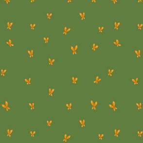 Butterflies on Green