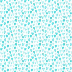 MINI - watercolor valentines fabric watercolour heart fabrics valentine design