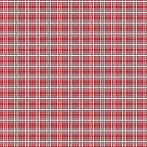 Red French Country Plaid