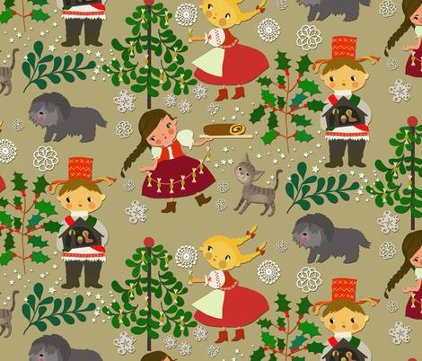 Folk xmas 1 fabric by gomboc on Spoonflower - custom fabric