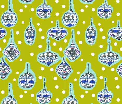 holidays are coming fabric by claireybean on Spoonflower - custom fabric