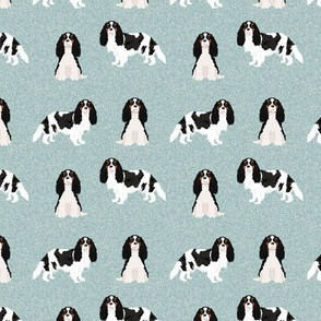 SMALL - cavalier king charles spaniel fabric, dog fabric, tricolored cavalier fabric, dog breeds fabric, dog breed fabric - pet quilt b coordinate