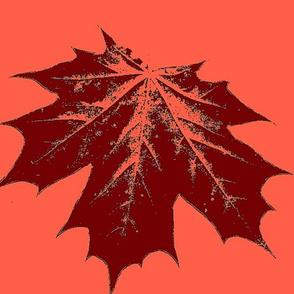 orange  maple leaf large