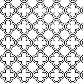 Minimal Geometric Quatrefoil Design