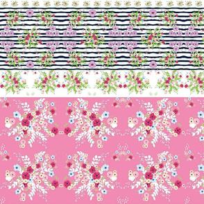 shabby chic purple passion border HORIZONTAL -1622 pink2d