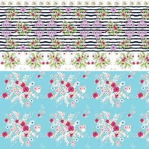 shabby chic purple passion border HORIZONTAL  547 mint 2 floral