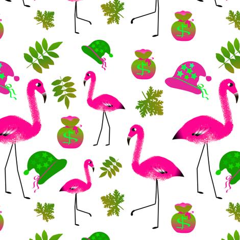 flamingo fabric by linoyanna on Spoonflower - custom fabric