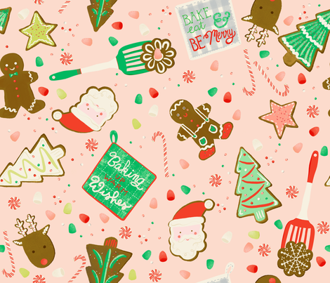 Baking Up Warm Wishes fabric by michele_norris on Spoonflower - custom fabric
