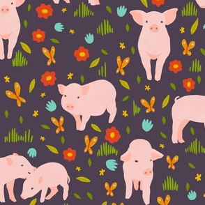 Large Scale Pigs on Purple