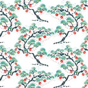 Christmas Pines chinoiserie