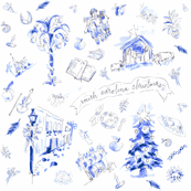 SC Christmas Toile -ch