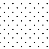 Black Color Love Heart White Background Polka Dot Pattern