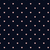Pink Color Love Heart Black Color Background Polka Dot Pattern
